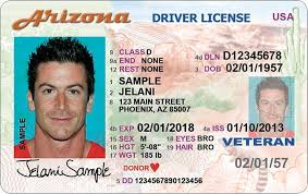 Drivers Arizona Vs Id License Card Real