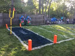 Super Bowl LI Backyard Football Field  YouTubeFootball Field In Backyard