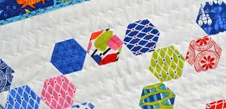 Make an Easy Baby Quilt with Hexagons and Equilateral Triangles ... & Hexagon Baby Quilt Adamdwight.com