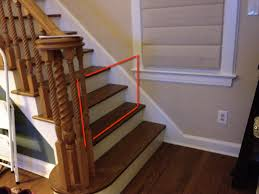 Baby gate suggestions for unusual bottom-of-stairs? : daddit