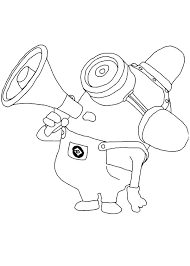 Despicable Me 2 Minions Coloring Pages To Print Minion Free Pictures