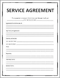 Service Contract Template Free Contract Template Security Services Contract Agreement Service Template Termination