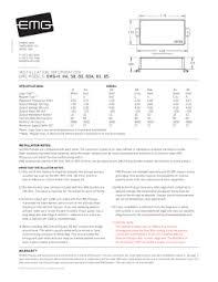 emg jv x set wiring diagram installation information emg models emg