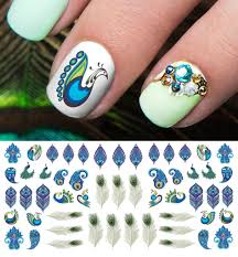 Peacock Feathers Nail Art Decals – Moon Sugar Decals