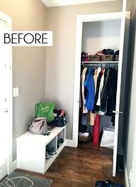coat closet storage coat closet organization tricks for busy families pertaining to coat closet storage ideas coat closet storage