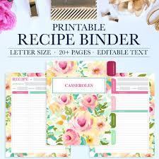 Recipe Binder Kit Printable Jessica Marie Design