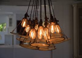plain chandelier and edison bulb chandelier dining room t