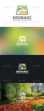 mosaic garden landscaping logo by disenggol modot graphicriver mosaic garden landscaping logo abstract logo templates