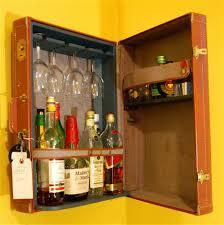 Living Room Corner Bar Masculine Modern Liquor Cabinet In L Shaped On Grey Tile Foor