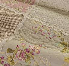 Cotton Comfortable Countryside Flower Patchwork Bedspread Quilt ... & Cotton Comfortable Countryside Flower Patchwork Bedspread Quilt Sets Queen Adamdwight.com