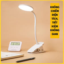 Đèn Học Kẹp Bàn , Đèn Bàn Chống Cận Dạng Kẹp Sạc Tích Điện IKA.HOME - Đèn  bàn