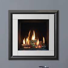 evoke xs glass front frame only with white glass front and graphite rear for the gazco riva2 400 gas fire simply stoves
