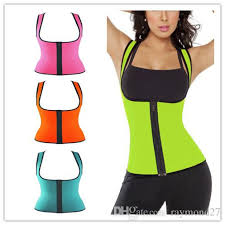 2018 y womens neoprene corsets and bustiers workout waist trainer vest support full sport gym fitness slimming waist corset from raymond27