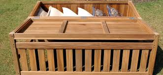 distinctive outdoor storage bench box with cushions