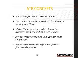 Vending Machine Accounting Impressive Cribmaster™ ATR Vending Machine Software Ppt Video Online Download