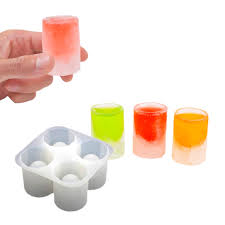 silicone ice shot glasses mould 4 x frozen shooter pack