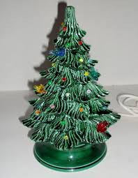 Still Have My Grandmotheru0027s Tree And The One She Made Me This Is Ceramic Tabletop Christmas Tree With Lights