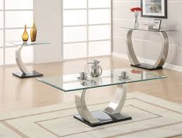 image of contemporary glass coffee table sets