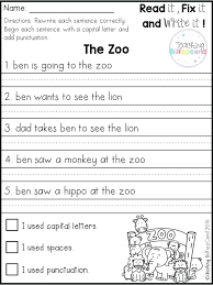 letter writing worksheets for grade 4 first grade writing worksheets photo worksheet sentences first grade writing