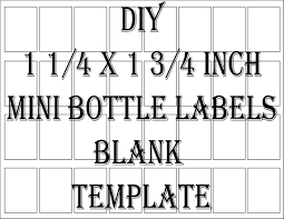 Package Label Template Amazing Mini Liquor Bottle Label Template Printable 48 Files 48 DIY 48 Etsy