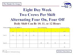 7 Team Schedule Maker 4 Day 10 Hour Work Template Shift Schedules