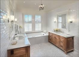 beveled subway tile bathroom install