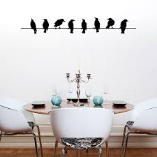 simple stickers branch unique great idea white wallpaper candle modern home design four chairs wooden table wall art birds  on metal wall art birds on a wire with wall art simple design wall art birds metal wall art birds outdoor