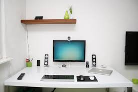 modern home office computer desk clean modern. Room And Modern Furniture Decorations Home Office Computer Desk Clean