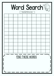 Grid Template Word Word Search Grid Template Printable Blank Free Templates
