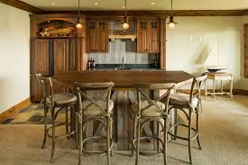 rustic bar lighting ideas home bar traditional with panel refrigerator wood trim pendant lights