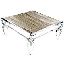 acrylic coffee table coffee table by van den lucite coffee table tray