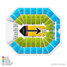 Detroit Lions Seating Chart With Seat Numbers Golden 1 Center Concert Tickets And Seating View Vivid Seats
