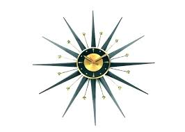 vintage metal crystal sunburst wall clock luxury diamond large design starburst er barrel