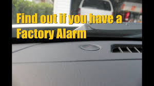 how to tell if you have a factory alarm security system factoryalarm securitysystem antitheft