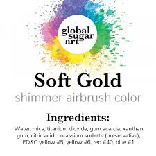 Poly Filter Color Chart Soft Gold Shimmer Premium Airbrush Food Color 2 Ounces By