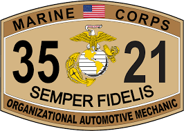 organizational automotive mechanic marine corps mos usmc organizational automotive mechanic marine corps mos 3521 usmc military decal