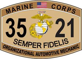 organizational automotive mechanic marine corps mos 3521 usmc organizational automotive mechanic marine corps mos 3521 usmc military decal