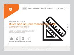 Quality One Page Ruler And Square Measuring Tools Website Template