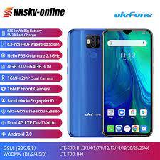 Ulefone Power 6 Android 9.0 MTK6765V Điện Thoại Thông Minh 6.3 inch 4GB +  64GB 6350mAh 4.4V dual SIM 4G 16MP FHD + Điện Thoại Di Động|Cellphones