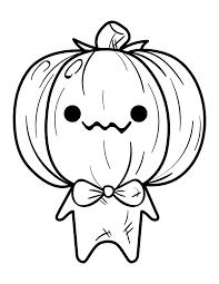 Luli bunny has made a kawaii colouring page for momiji. Printable Kawaii Pumpkin Monster Coloring Page