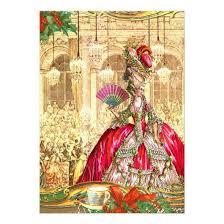 Christmas Tea Party Invitations Marie Antoinette Versailles Christmas Tea Party 5 X 7 Paper