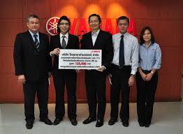 12 july 2016 mr phongstorn ermongkonchai chief of finance corporate planning and administration thai yamaha motor co ltd hands 120 000 baht