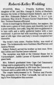Priscilla Kelley - Richard Roberti wedding - Newspapers.com