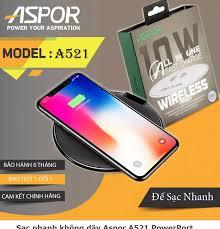 Đế sạc nhanh không dây Aspor A521 chuẩn hơn sạc không dây Anker, Baseus,  samsung, Iphone được trang bị Chuẩn QI tiêu chuẩn Châu âu có chế độ sạc  nhanh 10W