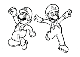 Super Mario 3d World Coloring Pages To Print Bros Online Galaxy Free
