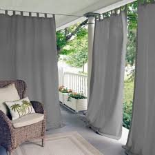 elrene matine gray indoor outdoor window curtain panel 52 in w x 108