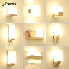 modern wall light fixture wood wall lamps modern wall mounted iron wall sconce for bedside light