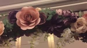 Paper Flower Archway Paper Flower Wedding Arch