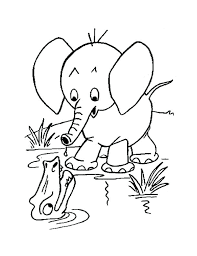 Elephant Color Pages Coloring Pages For Adults Elephant Adult Page