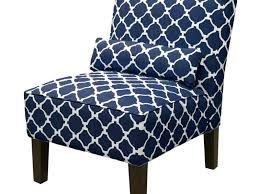 blue and white accent chair. Awesome Blue Print Accent Chair Gorgeous And White Navy . T
